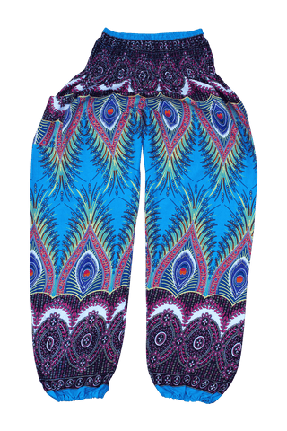 Blue Flare Harem Pants from Bohemian Island