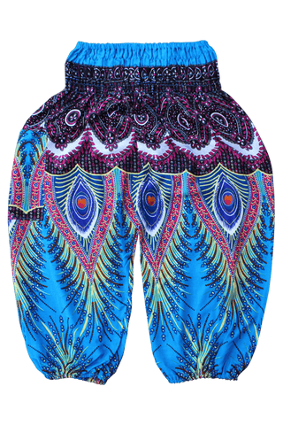 Blue Flare Kids Harem Pants from Bohemian Island
