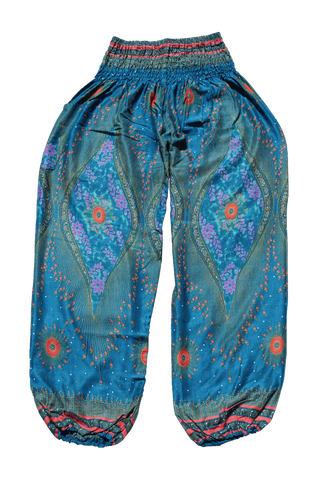 Blue Orchid Peacock harem pants from Bohemian Island
