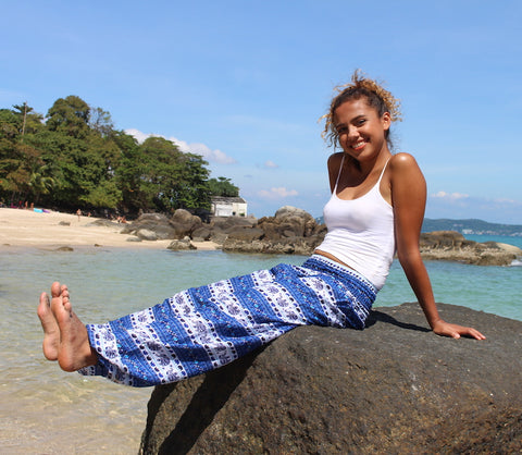 Blue Royal Elephant Harem Pants bohemian island