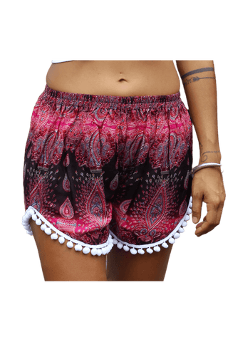 Bohemian style Pink Paisley Shorts from Bohemian Island