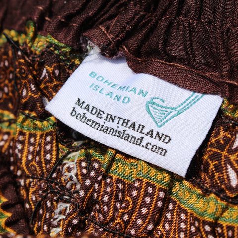 Brown Peacock Harem Pants Bohemian Island