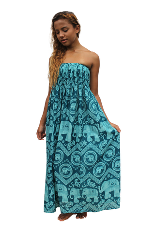 ekajati elephant womens maxi dress bohemian island