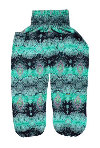 Green Paisley Harem Pants from Bohemian Island