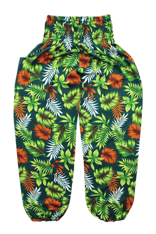 Green Rainforest harem pants from Bohemian Island