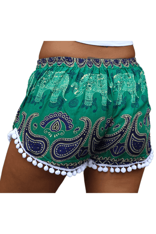 Hansa Elephant shorts. Boho clothing from Bohemian Island