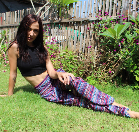 jami stripes harem yoga pants bohemian island