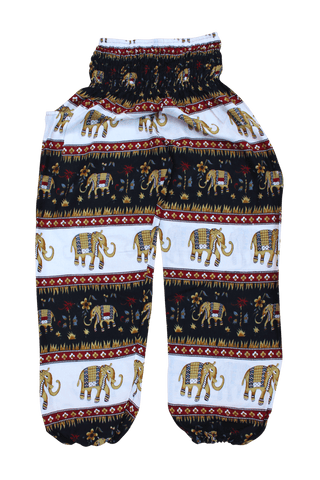 King Ashoka Elephant Harem Pants from Bohemian Island. Comfy bohemian pants.