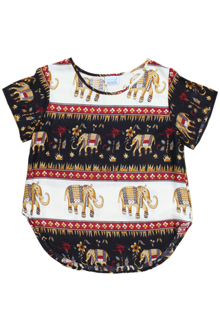 king ashoka elephant womens cotton shirt bohemian island