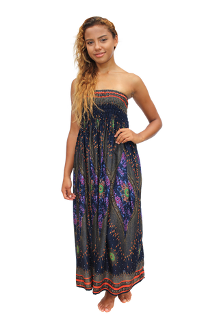 lavender peacock womens maxi dress bohemian island