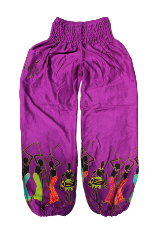 magenta tribal harem pants
