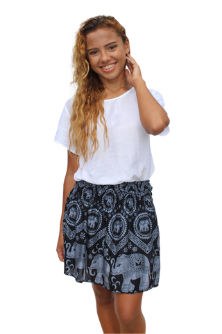 mahakala elephant short mini skirt bohemian island