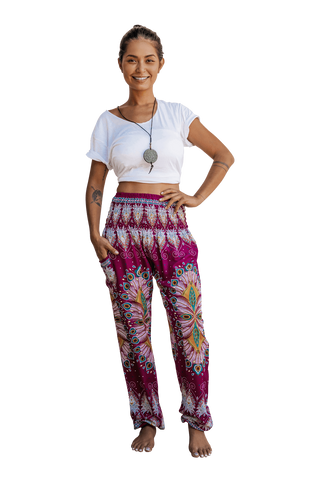 Pink Blossom Harem Pants from Bohemian Island Spring 2019 Collection