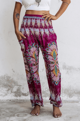 Pink Blossom Harem Pants from Bohemian Island