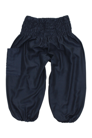 plain black kids harem pants bohemian island