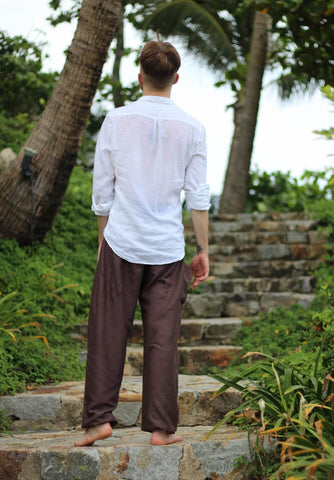 plain harem pants brown harem pants bohemian island