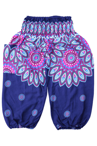 Purple Floral Kids Harem Pants from Bohemian Island
