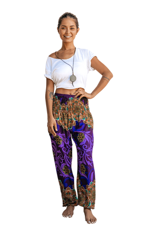 Purple Ivy Harem Pants from Bohemian Island