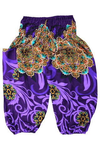 Purple Ivy Kids Harem Pants from Bohemian Island