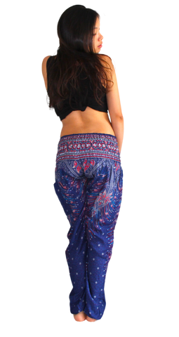Purple Peacock Harem Pants Bohemian Island