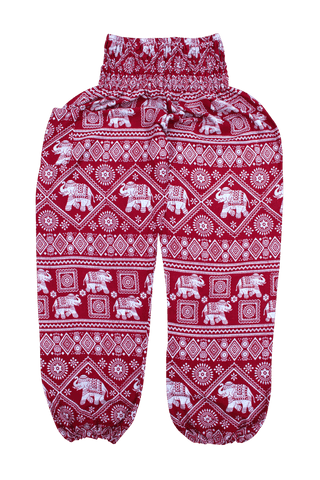 Red Elephant Harem Pants From Bohemian Island. Comfy Bohemian Pants