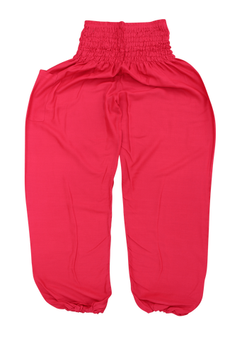 Red Plain Harem Pants from Bohemian Island
