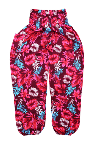 Red Rainforest harem pants from Bohemian Island