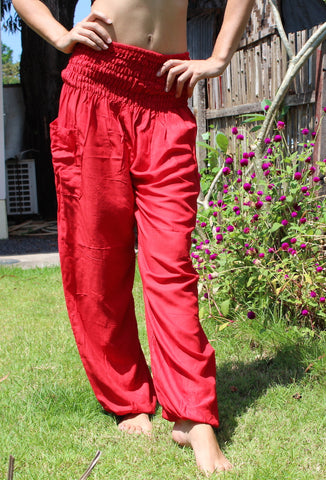 red harem yoga pants bohemian island