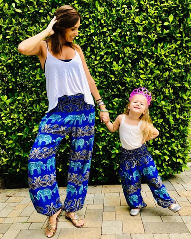 Rutna Elephant Kids Harem Pants from Bohemian Island