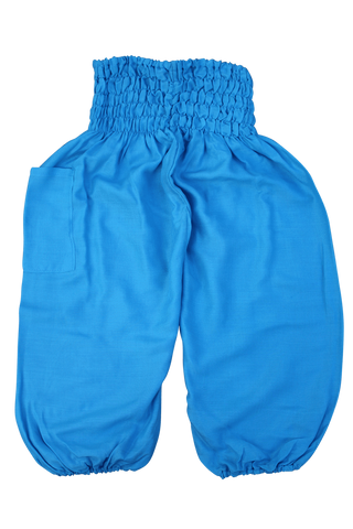 Sky Blue Kids Harem Pants from Bohemian Island