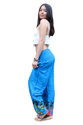 sky blue tribal harem pants bohemian island