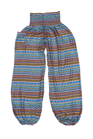 suji stripes harem yoga pants bohemian island