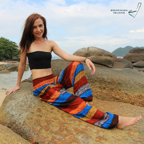 Sunset Stripes Harem Pants Bohemian Island
