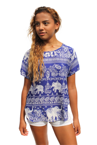 vanida elephant womens cotton shirt bohemian island