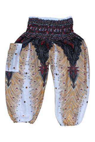 white peacock kids harem pants bohemian island