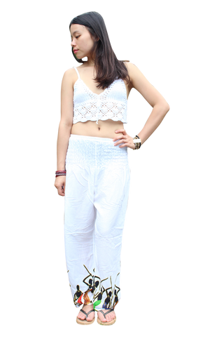 white tribal harem pants bohemian island