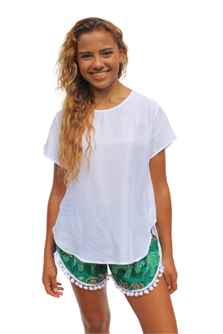 white womens cotton shirt bohemian island