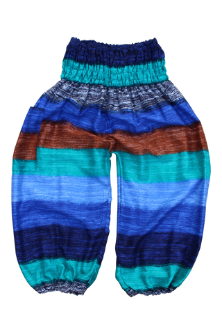 winter stripes kids harem pants bohemian island