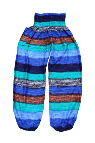 Winter Stripes Harem Pants Bohemian Island