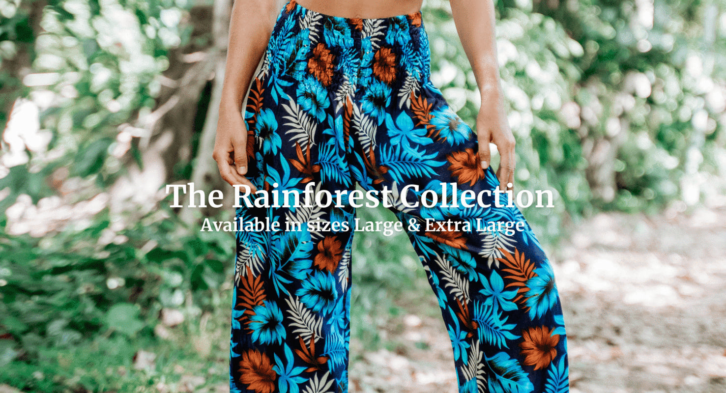 Browse the full Rainforest Harem Pants Collection here