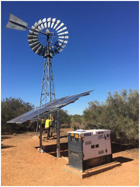 Windmill replaced with solar pumping
