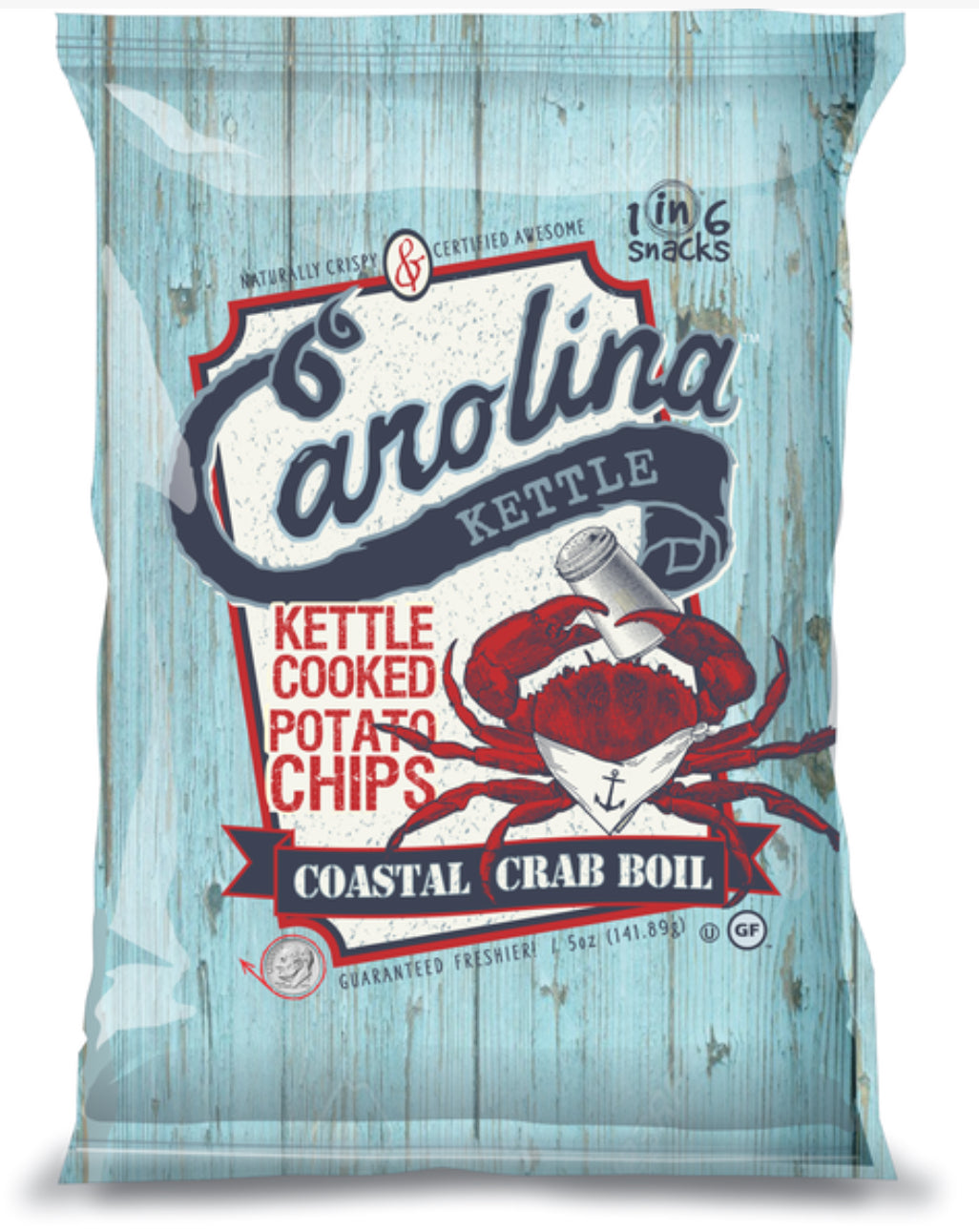 Coastal Crab Boil Kettle Chips 5oz bag