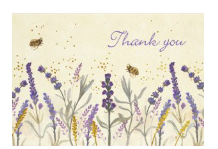 Lavender Thank You Notecards