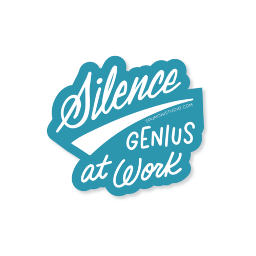 Genius at Work Sticker