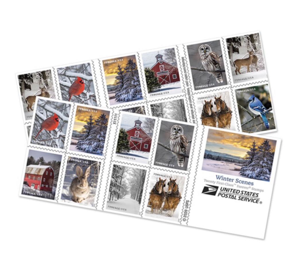 Winter Scenes Forever Stamps