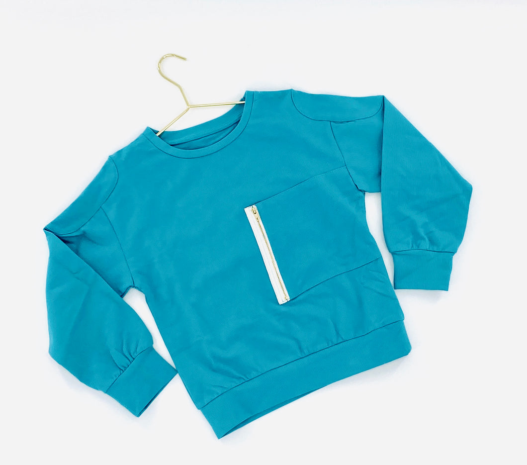 Zip Up Pocket Sweater