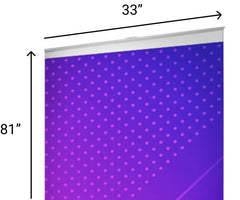 """Standard Pull Up Banner Size 33"""" x 81"""""""
