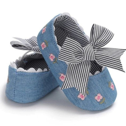Baby Girls Bows First Shoes
