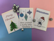 Load image into Gallery viewer, Watercolour Christmas Cards (Set of 3)