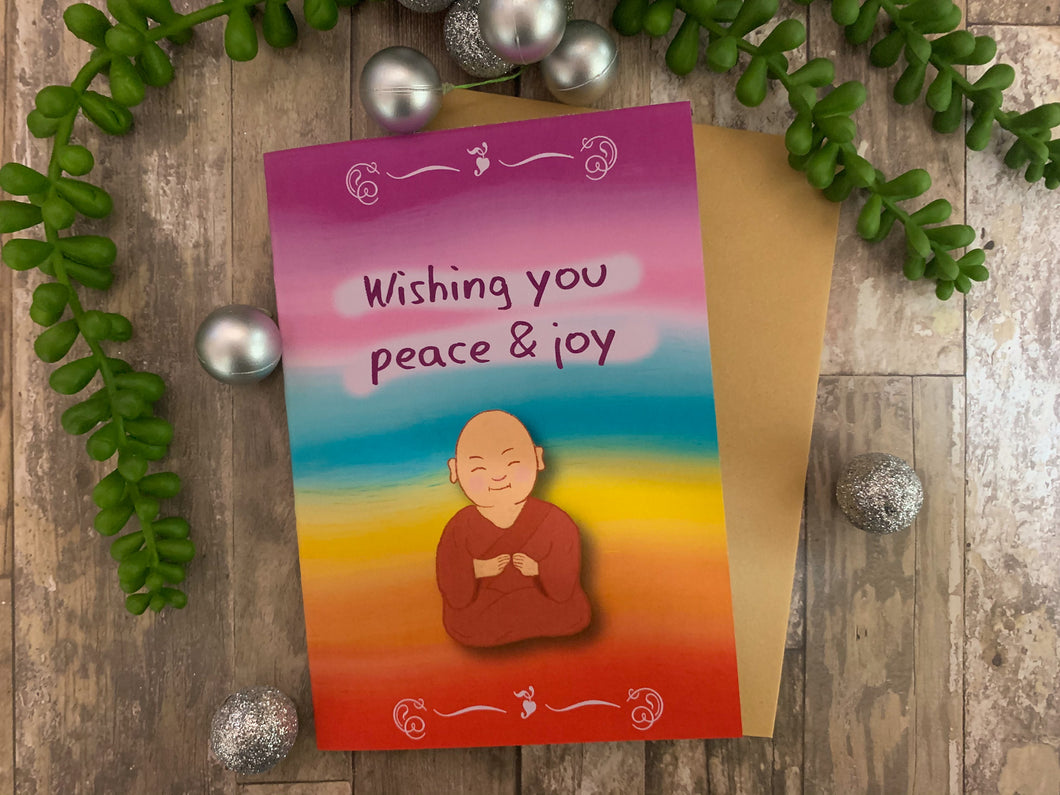 Rainbow Buddha Greeting Card (Peace & Joy)